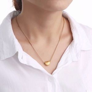 New 18K gold heart necklace
